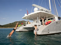 Jacuzzi on a yacht